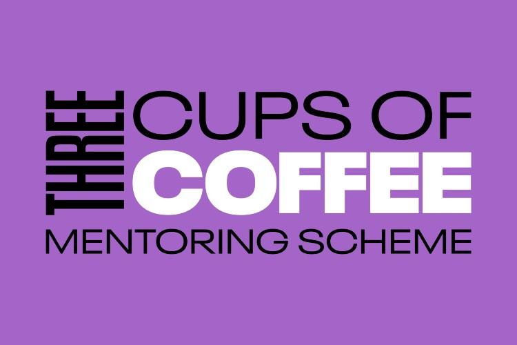 Logo saying three cups of coffee mentoring scheme